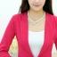 เสื้อสูททำงานผู้หญิง สีชมพู แขนยาว คอปก เอวเข้ารูป , thumbnail 15