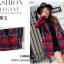เสื้อโค้ทลายสก๊อตสีแดง ทรงสวย เนื้อผ้าดี ลุคสวยน่ารัก สดใส สไตล์เกาหลี thumbnail 4
