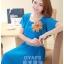 ชุดเดรสออกงาน,ชุดไปงานแต่งงานสวยๆ ชุดเดรสยาว สีฟ้า ผ้าชีฟอง ให้ลุคสาวหวานสไตล์เกาหลี สวยหรู ดูดี ( S M L ) thumbnail 5