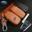ซองหนังแท้ ใส่กุญแจรีโมทรถยนต์ รุ่นโลโก้-ฟ้า Subaru XV,Forester,Brz,Outback 2015-18 Smart Key thumbnail 1
