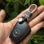ซองหนังแท้ ใส่กุญแจรีโมทรถยนต์ รุ่นโลโก้เหล็ก Mercedes Benz สีดำ-น้ำตาล แบบใหม่ thumbnail 11