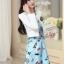 ชุดเดรสทำงานเกาหลี เดรสสั้นน่ารักๆพิมพ์ลายโบว์ มาคู่กับเสื้อสูทตัวสั้นสีขาว เนื้อผ้าดี ทำให้คุณสาวๆ ดูสวยง่า ( M L XL XXL ) thumbnail 8