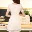 ชุดทำงานสวยๆ ชุดเดรสสั้น สีขาว ให้ลุคสาวหวานสไตล์เกาหลี สวยหรู ดูดี เรียบร้อย ( S,M,L,XL ) thumbnail 9