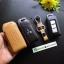 ซองหนังแท้ ใส่กุญแจรีโมทรถยนต์ Mitsubishi Mirage,Attrage,Triton,Pajero Smart Key 2,3 ปุ่ม โลโก้ป้ายเงิน thumbnail 7