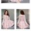 ชุดเดรสสั้นสีชมพู ลายดอกไม้ คอระบาย แขนยาว แนวเกาหลีสวยหวาน น่ารักๆ แนววินเทจย้อนยุค thumbnail 2