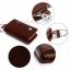 กระเป๋าซองหนังแท้ ใส่กุญแจรีโมทรถยนต์ หนังบราซิล โลโก้-เงิน BMW รุ่นซิบรอบ thumbnail 3
