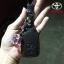 New ซองหนังแท้ ใส่กุญแจรีโมทรถยนต์ Toyota New Yaris 2014-18 แบบ Push Start โลโก้เงิน รุ่น 2 ปุ่ม thumbnail 7