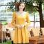 ชุดเดรสทำงานสวยๆ สีเหลือง คอปกปักเลื่อมเก๋ๆ แขนยาว ซิปหลัง กระโปรงทรงสวิง ผ้าโพลีเอสเตอร์ thumbnail 6
