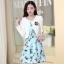 ชุดเดรสทำงานเกาหลี เดรสสั้นน่ารักๆพิมพ์ลายโบว์ มาคู่กับเสื้อสูทตัวสั้นสีขาว เนื้อผ้าดี ทำให้คุณสาวๆ ดูสวยง่า ( M L XL XXL ) thumbnail 1