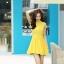 ชุดเดรสสั้นสีเหลือง ผ้าชีฟอง คอจีน ชายกระโปรงจับจีบเป็นระบาย ลุคสาวหวาน เรียบๆ ดูดี thumbnail 6