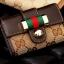 กระเป๋าพวงกุญแจ Gucci กุชชี่ ลายใหม่ คุณภาพเป็นเลิศ สี น้ำตาล - ขาว (Pre) thumbnail 2