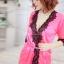 เซ็กซี่ชุดชั้นในลูกไม้ Robe ชุดนอน Nightgown + G-String สีขาว+ชมพูอ่อน thumbnail 5