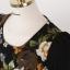 ชุดเดรสทำงานลายดอกไม้สีดำ แขนยาว ทรงตรงเข้ารูป ลุคสาวทำงานออฟฟิศแนววหวาน น่ารัก ดูดี thumbnail 3