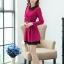 ชุดทำงานสวยๆ ชุดเดรสสั้น สีชมพูบานเย็น คอปก แขนยาว ให้ลุคสาวหวานสไตล์เกาหลี สวยหรู ดูดี ( S M L ) thumbnail 6