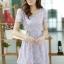 ชุดทำงานสวยๆ ชุดเดรสสั้น สีม่วง ให้ลุคสาวหวานสไตล์เกาหลี สวยหรู ดูดี เรียบร้อย ( S,M,L,XL ) thumbnail 3
