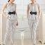 ชุดเชตเสองชิ้นเข้าชุด เสื้อ กางเกงขายาวสีขาว ลายตรง ลุคสาวเท่ห์ ดูดี thumbnail 5