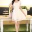 ชุดทำงานสวยๆ ชุดเดรสสั้น สีขาว ให้ลุคสาวหวานสไตล์เกาหลี สวยหรู ดูดี เรียบร้อย ( S,M,L,XL ) thumbnail 7