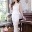 ชุดออกงาน/ชุดไปงานแต่งงานสวยๆ สีขาว เซ็ทเสื้อ+กางเกง ผ้าลูกไม้ สวยหวาน หรู เรียบๆ thumbnail 4