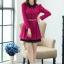 ชุดทำงานสวยๆ ชุดเดรสสั้น สีชมพูบานเย็น คอปก แขนยาว ให้ลุคสาวหวานสไตล์เกาหลี สวยหรู ดูดี ( S M L ) thumbnail 7