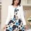 ชุดเดรสทำงานเกาหลี เดรสสั้นพิมพืลายดอกไม้สีแดงดำ มาคู่กับเสื้อสูทตัวสั้นสีขาว เนื้อผ้าดี ทำให้คุณสาวๆ ดูสวยง่า ( M L XL XXL ) thumbnail 7