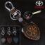 ซองหนังแท้ ใส่กุญแจรีโมท รุ่นด้ายสี พิมพ์โลโก้ Toyota Altis,Hilux Vigo,Fortuner,Camry,Innova thumbnail 2
