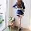ชุดเซต 2 ชิ้น เสื้อคลุมเก๋ๆ + กางเกงกระโปรงขาสั้น สีกรมท่า ผ้าโพลีเอสเตอร์ ให้ลุคสวยเท่ห์ ดูดี สไตล์แฟชั่นเกาหลี ( S M L ) thumbnail 5