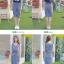 ชุดเดรสยาว แยกชิ้น เสื้อแขนสั้น สีน้ำเงิน ชุดลายทางสีขาวน้ำเงิน ทรงเข้ารูป thumbnail 4