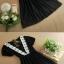 ชุดแซกกระโปรงสั้น มินิเดรสน่ารักๆ ชุดเดรสสั้นแฟชั่นเกาหลี เดรสอินดี้ สีดำ thumbnail 5