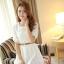ชุดเดรสสั้นแฟชั่นเกาหลี ชุดเดรสลูกไม้สีขาว แขนสามส่วน เป็นชุดเดรสแนวหวานน่ารัก สวย เรียบร้อย ดูดี ( S M L ) thumbnail 6