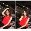 ชุดเชตเสองชิ้นเข้าชุด เสื้อ กระโปรง โทนสีแดง ดำ เรียบๆ ดูดี สไตล์แฟชั่นเกาหลี thumbnail 4