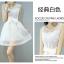 ชุดเดรสสั้นน่ารักๆ สีขาว แขนกุด พร้อมผ้าผูกเอวเข้าชุด ผ้าไหมแก้ว thumbnail 4