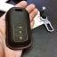 ซองหนังแท้ ใส่กุญแจรีโมทรถยนต์ Honda Accord All New City 2014-16 Smart Key 3 ปุ่ม รุ่นหนังนิ่ม สี ดำ/ด้ายแดง thumbnail 7