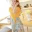 ชุดเดรสยาวแฟชั่นเกาหลี แม็กซี่เดรสสวยๆ สีเหลือง กระโปรงลายดอกไม้ เป็นชุดเดรสแนวหวานน่ารัก เรียบร้อย ดูดี ( S M L) thumbnail 5