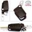 ซองหนังแท้ ใส่กุญแจรีโมทรถยนต์ รุ่นถอดสวมได้ Toyota Hilux Revo,New Altis พับข้าง 3 ปุ่ม สีดำ thumbnail 2