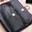 กระเป๋าสตางค์/หนังแท้ กระเป่าคลัทช์ กระเป๋าหนัง สี ดำ,ม่วง thumbnail 7
