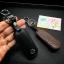 ซองหนังแท้ ใส่กุญแจรีโมทรถยนต์ รุ่นหนังนิ่มโลโก้-เหล็ก Mazda 2,3/CX-3,5 Smart Key 2 ปุ่ม thumbnail 6