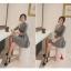 ชุดเดรสทำงานสีเทา คอวี แขนยาว เอวเข้ารูป กระโปรงทรงสวิง ลุคสวยเรียบ ดูดี สไตล์สาวออฟฟิศ thumbnail 4