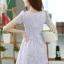 ชุดเดรสลูกไม้สีม่วง คอกลม แขนสั้น แนวเกาหลี สวยหวาน น่ารักๆ thumbnail 7