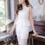 ชุดออกงาน/ชุดไปงานแต่งงานสวยๆ สีขาว เซ็ทเสื้อ+กางเกง ผ้าลูกไม้ สวยหวาน หรู เรียบๆ thumbnail 5