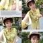 ชุดเซตเสื้อกางเกงสีเหลือง เสื้อแขนยาวผ่าแขนลายดอกไม้ + กางเกงขาสั้น thumbnail 3