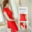 ชุดเดรสสั้นสีแดง คอจีน แขนสั้น สีพื้น เรียบๆ สวยดูดี ใส่ได้ทั้งเป็นชุดลำลองสวยๆ ชุดทำงานน่ารักๆ thumbnail 6