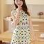 ชุดเดรสสั้นแฟชั่นเกาหลี พิมพ์ลายเก๋ๆ สีสดใส เหมาะกับการใส่เที่ยวสบาย หรือ จะใส่ไปงานเลี้ยง จะทำให้คุณดูสวย สง่า มั่นใจ