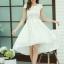 ชุดเดรสออกงานสวยๆ ชุดเดรสสั้นสีขาว ผ้าชีฟอง ใส่ไปงานแต่งงาน ออกงานเลี้ยง ให้ลุคสาวหวานสไตล์เกาหลี สวยหรู ดูดี ( S M L XL ) thumbnail 4