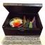ชุดกำยานเล็กในกล่องไม้แบบมีฝาปิดพร้อมนิเกิลลายช้างบนฝาปิดกล่องไม้ สวยงาม ด้านในมีกำยาน และดอกเทียนในถ้วย ขายส่ง กาดเซ็นเตอร์รับจัดชุดกำยาน thumbnail 1