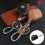 ซองหนังแท้ ใส่กุญแจรีโมทรถยนต์ รุ่นดอกกุญแจโลโก้เหล็ก Suzuki Swift,Ciaz แบบใหม่ thumbnail 1