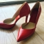 """รองเท้าส้นสูง ส้นแหลม หนังเรียบ สไตล์เกาหลี """"ทรง ZARA"""" สี แดง - ดำ (Pre) thumbnail 13"""