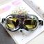 แว่นตาขี่มอเตอร์ไซค์ วินเทจ สีชา thumbnail 1