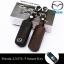 ซองหนังแท้ ใส่กุญแจรีโมทรถยนต์ รุ่นหนังนิ่มโลโก้-เหล็ก Mazda 2,3/CX-3,5 Smart Key 2 ปุ่ม thumbnail 1