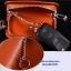 กระเป๋าซองหนังแท้ ใส่กุญแจรถยนต์ โลโก้ TOYOTA หนังลายไม้ สีน้ำตาล thumbnail 5
