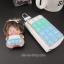 กระเป๋าซองหนังใส่ กุญแจรีโมทรถยนต์ ได้ทุกรุ่น ประดับคริสตัล DIY สี ขาว/เขียว/ฟ้า (ไม่รวม-ตุ๊กตา) thumbnail 7